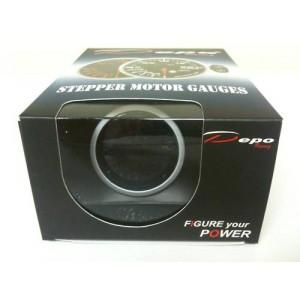 60mm Digital Volt Gauge White / Amber