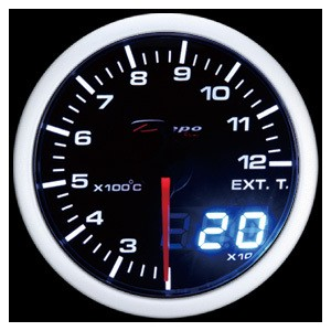 52mm Celsius Digital EGT Gauge White / Amber