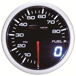 52mm PSI Digital Fuel Pressure Gauge White / Amber