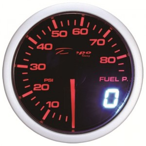 60mm BAR Digital Fuel Pressure Gauge White / Amber