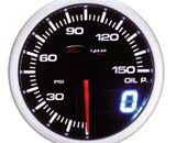 60mm BAR Digital Oil Pressure Gauge White / Amber